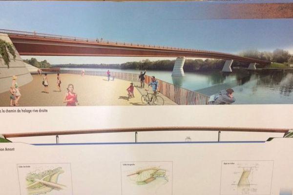 Les plans du futur Pont de Fleurville.