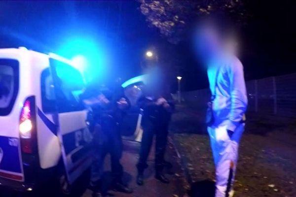 Archives- Janvier 2018- Opération de contrôle la nuit par un équipage de Police-Secours de Rouen