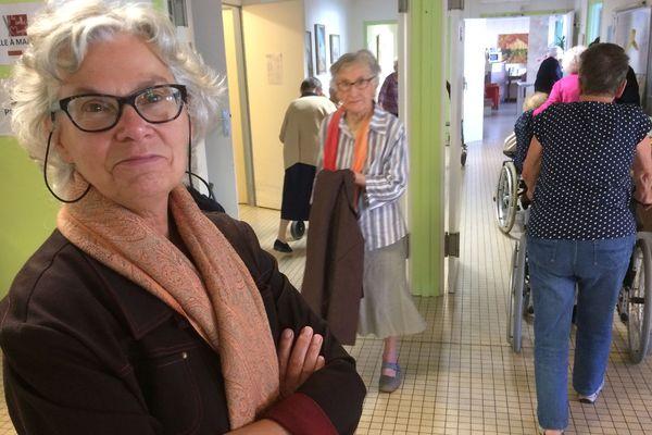 """Jeanne-Chantal Docquier directrice de l'EHPAD les Mimosas a converti son équipe à """"l'Humanitude"""""""