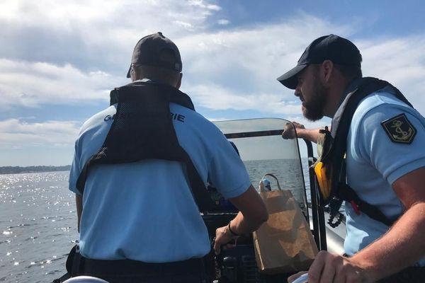 La gendarmerie maritime a participé ce mercredi 8 juillet 2020 à l'opération de contrôle de sécurité menée par les services de l'Etat au large d'Antibes.