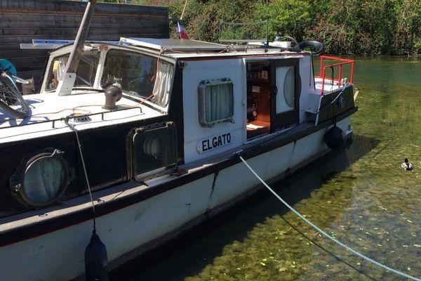 Un bateau sur le canal de Bourgogne à Dijon. (archives)