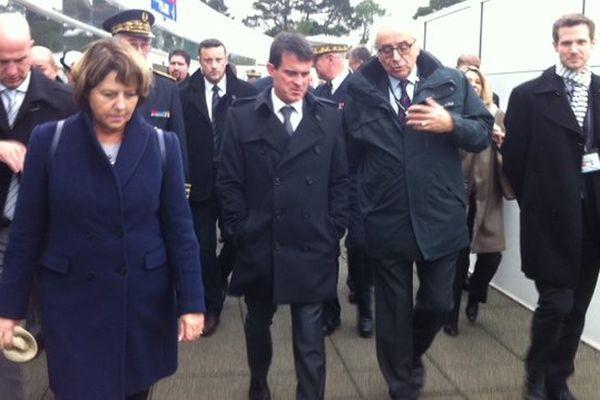 Manuel Valls avec Xavier de la Gorce, président de la SNSM, ce jeudi à Brest