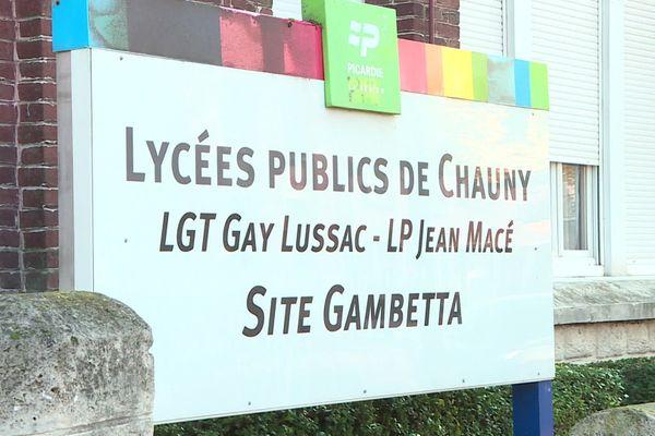 Lycées publics de Chauny - Site Gambetta, 19 octobre 2020
