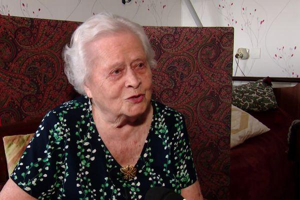 Paulette Lecouvey, 103 ans, résidente à l'Ehpad Saint-Anne de Rouen