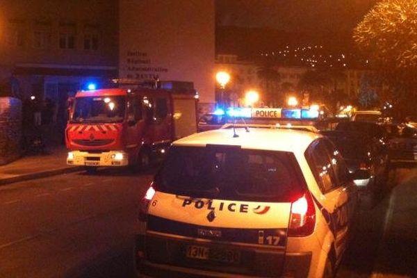 30/09/13 - Incendie dans les locaux de l'IRA de Bastia
