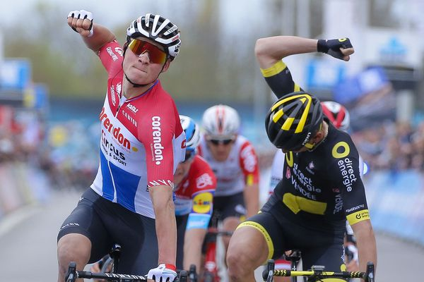 Première victoire sur le WorldTour pour Mathieu van der Poel.