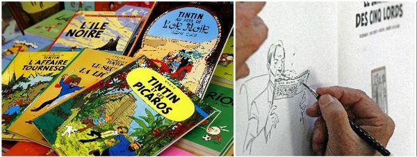 Tintin, Blake et Mortimer : les figures de la ligne claire