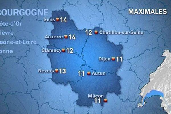 Les prévisions de Météo France jeudi 22 octobre après-midi