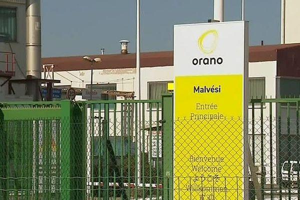 Narbonne (Aude) - entrée de l'usine Orano Malvési - septembre 2018.