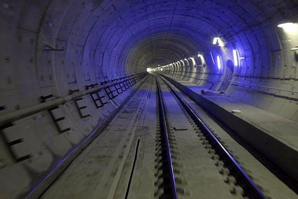 Tunnel du Perthus entre France et Espagne sous les Pyrénées, dont TP Ferro est le concessionnaire - 2014