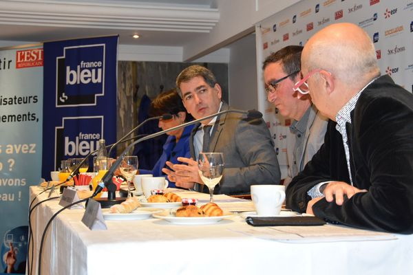 Jean Rottner, président de la Région Grand Est était l'invité des matinales de l'Excelsior à Nancy, jeudi 6 décembre 2018.