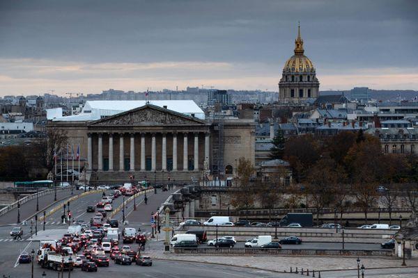 Le Palais Bourbon où siègent les députés de l'Assemblée Nationale
