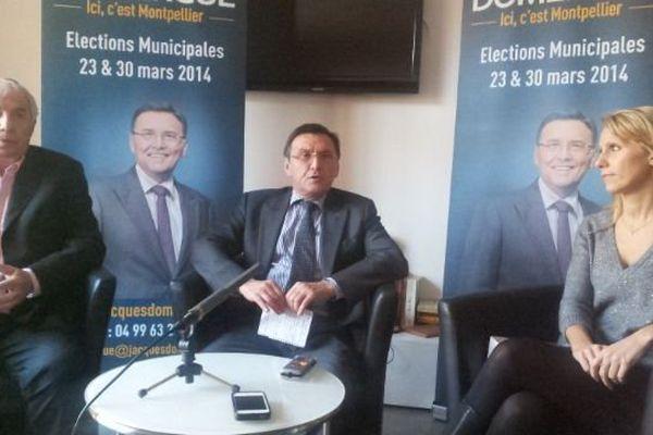 Anne Brissaud UDI aux côtés de Jacques Domergue candidat UMP. 21 janvier 2014.