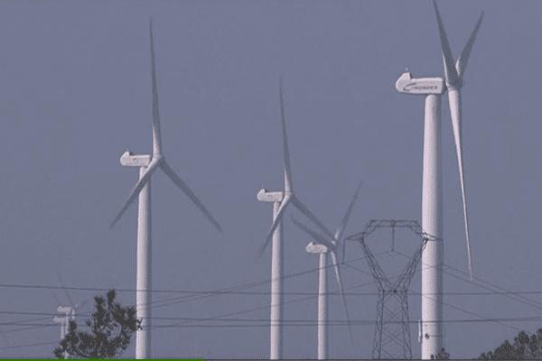 Le champ éolien de Saint-Coulitz (29) a tourné à plein régime lors des tempêtes