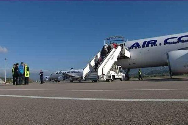 Ce vol est le premier vol reliant directement Ajaccio à Porto.
