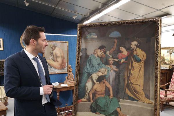 C'est Pierre Turpin,commissaire-priseur à Guéret qui a découvert cette oeuvre chez un particulier lors d'une banale estimation de mobilier. Elle avait disparue depuis 200 ans.