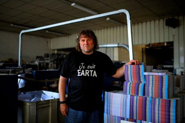 Didier Rio, le patron d'EARTA, société qui emploie 220 personnes handicapées, menacée par la faillite de Prestaliss