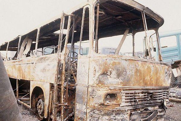L'un des bus impliqué dans la catastrophe de Beaune en 1982