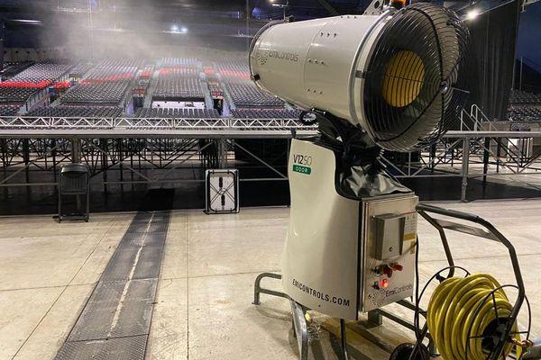 Un système unique permet de pour désinfecter la salle de concert de Marseille.