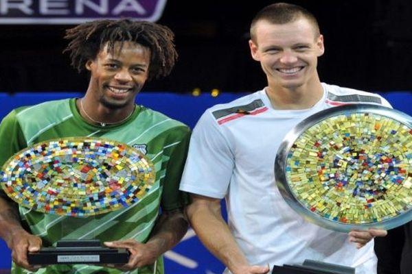 Montpellier : Berdych vainqueur 2012 du trophée de l'Open Sud de France et Monfils finaliste - février 2012.