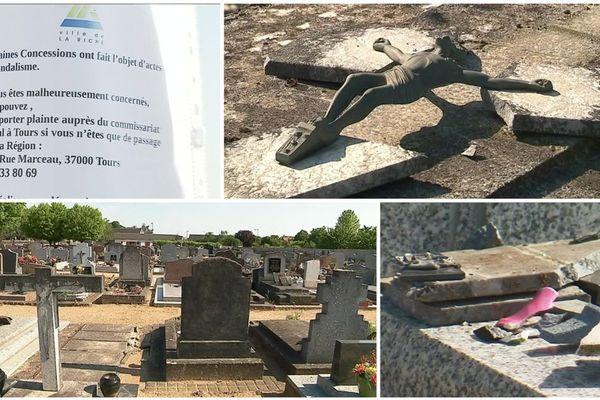 Une trentaine de tombes saccagées au cimetière de La Riche près de Tours