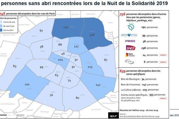 C'est dans les 18e et 19e arrondissements que les sans-abris sont les plus nombreux.