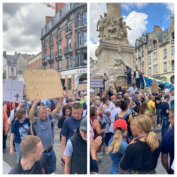 Plus de 2.500 manifestants ont défilé place Drouet-d'Erlon à Reims