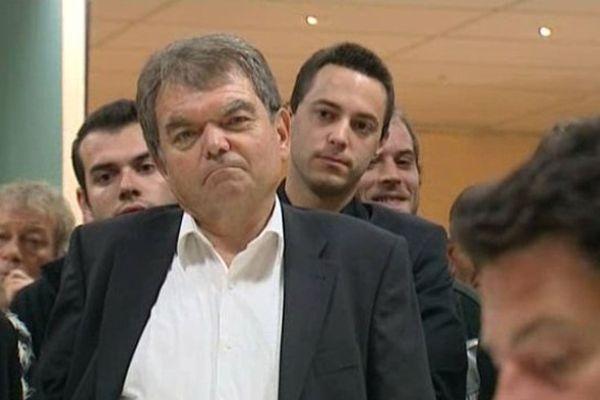 Bernard Gilabert, lors des primaires socialistes, le 10 octobre 2013.
