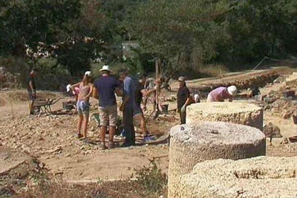 Murviel-lès-Montpellier (Hérault) - la saison estivale de fouilles 2015 se termine - 17 août 2015.