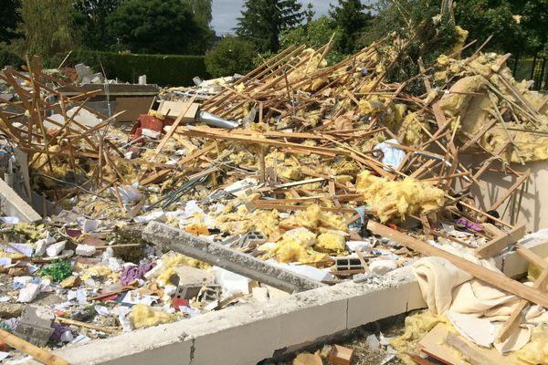 Un pavillon a été complètement soufflé par une explosion dans la nuit du 3 au 4 septembre 2019