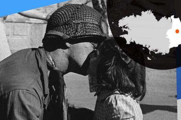 Un cliché du soldat devenu photographe Tony Vaccaro, à la libération : une fillette embrasse un sergent américain
