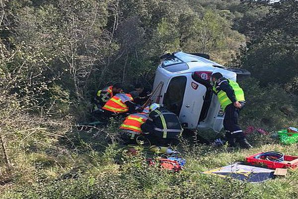 Mauressargues (Gard) - accident de voiture - 3 avril 2017.