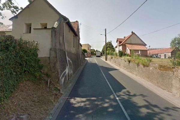 L'accident s'est produit dans la rue Daniel Ranger à Campagne-lès-Hesdin.