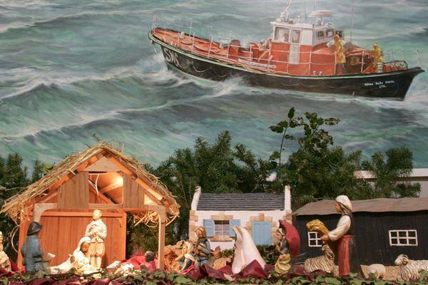 Exposition de crèches maritimes au Musée des Thoniers en 2005.