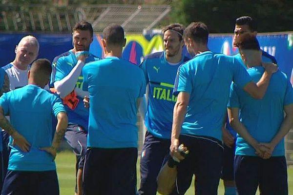 Montpellier - l'équipe d'Italie à l'entraînement au centre de Grammont- 9 juin 2016.