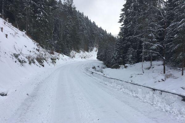 La station du Lac blanc et alentour sous 60 cm de neige ce mercredi 09 janvier
