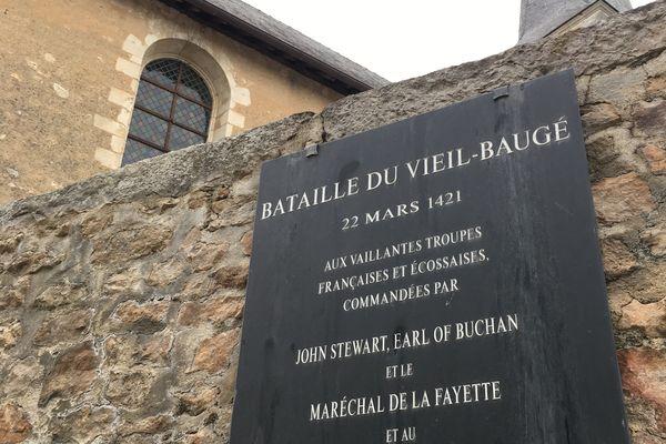 Plaque commémorative des combats de 1421