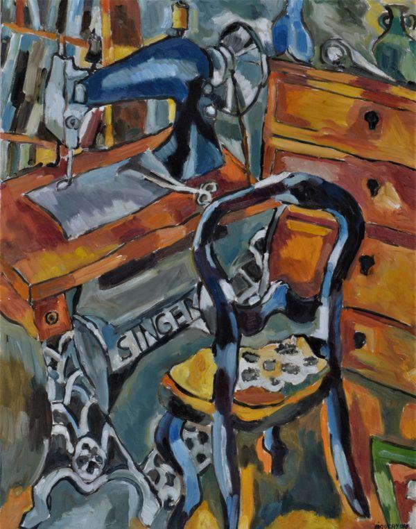 """Jacques Piquery , """"La chaise noire""""."""