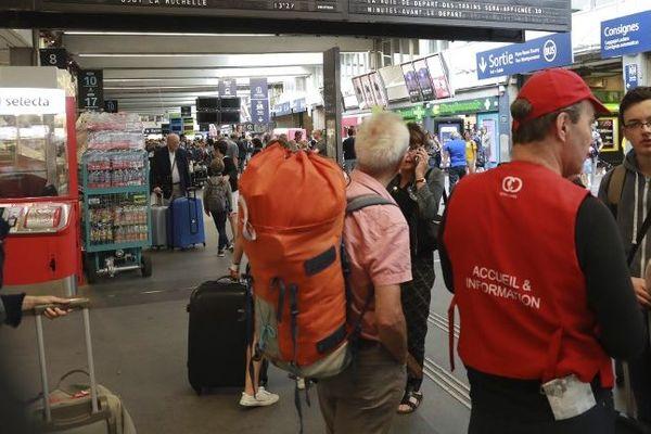 Le trafic est interrompu en gare Montparnasse, photo d'illustration