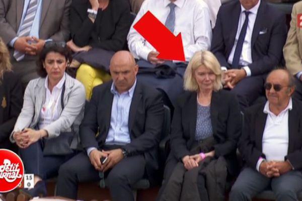Dominique Orliac dans la tribune officielle de Roland Garros mardi