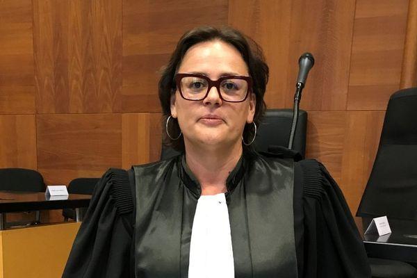 Caroline Tharot, nouvelle procureur de la République à Bastia, lors de son installation le 1er septembre 2017