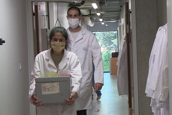 L'équipe de Montpellier analyse méthodiquement les eaux usées arrivant à la station d'épuration de la ville.