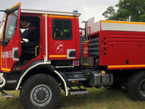Un des huit nouveaux camions du SDIS 68 pour lutter contre l'incendie