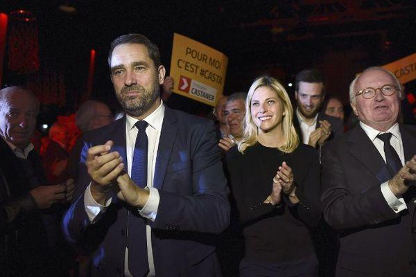 Christophe Castaner à gauche avec Michel Vauzelle lors du meeting du 3 décembre.