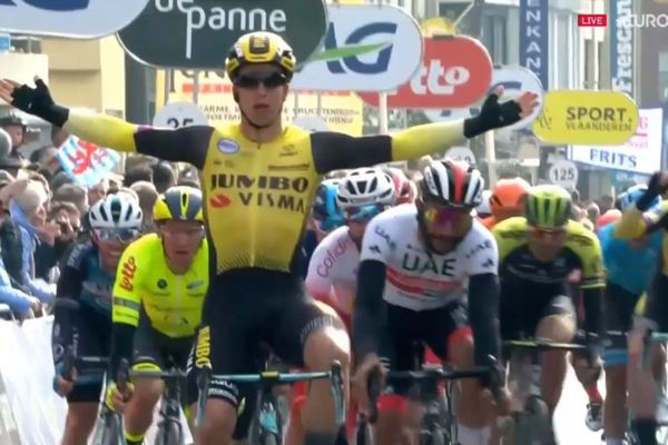 Le Néerlandais Dylan Groenewegen (Jumbo) a remporté au sprint Les Trois jours de Bruges/La Panne