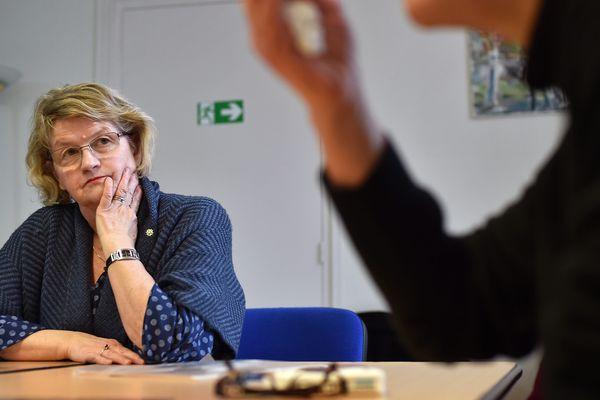 Charline Delporte lors d'une réunion famille du CAFFES.