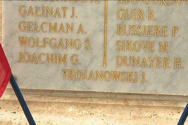 Cinq noms ont été ajouté à la stèle rendant hommage aux fusillés du 27 mars 1944.