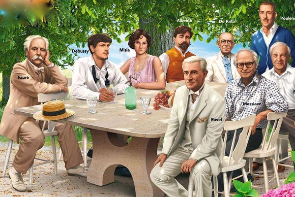 Déjeuner sur l'herbe avec des compositeurs fans de la Folle Journée, l'affiche de 2013.
