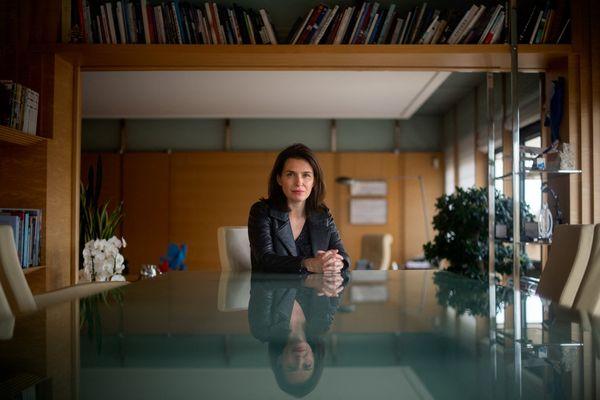 Christelle Morançais (LR), présidente sortante de la région Pays de la Loire et candidate aux élections de 2021.