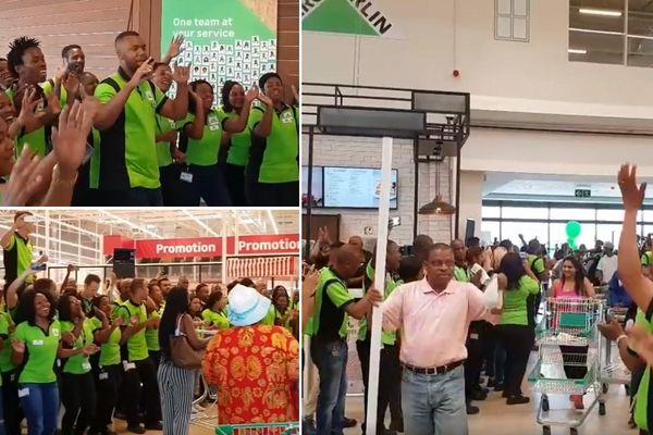 Scène de joie à l'ouverture du magasin Leroy Merlin de Johannesbourg